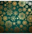 Christmas pattern snowflake vector image vector image