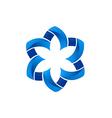 circular shape flower abstract logo vector image vector image