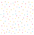 Confetti seamless pattern Festive background vector image