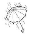 contour of the umbrella vector image vector image