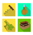 design farm and vineyard symbol vector image