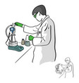 female chemist working in laboratory vector image vector image
