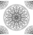 flower lace pattern vector image vector image