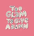 glamorous girl slang message t-shirt print vector image