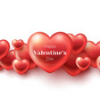 glossy hearts on white vector image vector image