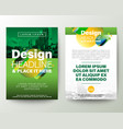 green brochure cover flyer poster design layout vector image