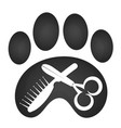 grooming animal symbol vector image