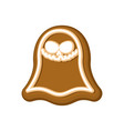 halloween cookie ghost cookies for terrible vector image