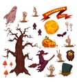 Halloween party icon set vector image vector image