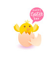 happy easter day greeting card background with vector image