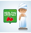 Healthy food design Healthy lifestyle icon Flat vector image