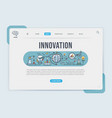 innovation landing page web design templates vector image vector image