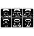 love quotes in black vector image vector image