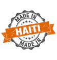 made in haiti round seal vector image vector image