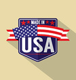 Made in USA Single Badge vector image