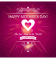 Mothers Day greeting card with background of roses vector image vector image