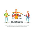 music band banner template with space for text vector image vector image