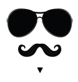 mustache and glasses on face vector image vector image