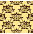 Persian brown paisley seamless floral pattern vector image vector image