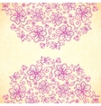 Pink doodle vintage flowers circles background vector image vector image