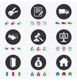 Real estate auction icons Handshake for sale vector image