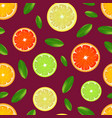 realistic detailed citrus background pattern vector image vector image