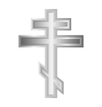 Religious orthodox cross icon vector image vector image