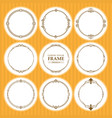 round frames set design element vector image