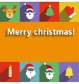 santa claus and year flat design vector image vector image