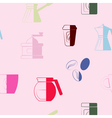 seamless background with coffee vector image vector image