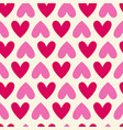 seamless colorful hearts pattern bright valentines vector image