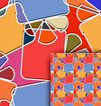Seamless texture with a figure gift vector image vector image
