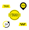 set of different taxi signs eps10 vector image