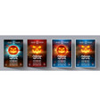 set of flyers for a night party helloween vector image vector image