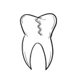 sketch of the tooth with defect vector image vector image
