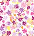 skribbled flowers vector image vector image