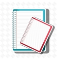 spiral notebook isolated icon design vector image vector image
