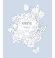 Spring Flowers Vintage Sketch vector image