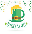 st patricks day greeting card design vector image vector image