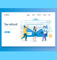 tax refund website landing page design vector image vector image