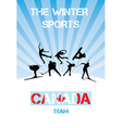 The winter sports Canada team vector image vector image