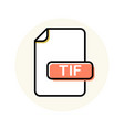 tif file format extension color line icon vector image vector image