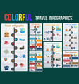 tourism and travel concept in infographics vector image vector image
