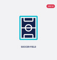two color soccer field icon from football concept vector image