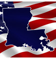 united states louisiana dark blue silhouette vector image vector image