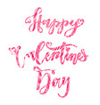 valentines day lettering set made for postcard and vector image vector image