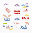 variety monsoon season sales vector image vector image
