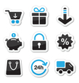 Web and internet icons set - shopping vector image vector image
