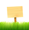 wooden board index vector image vector image
