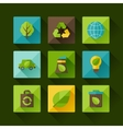 Ecology set of environment and pollution icons vector image
